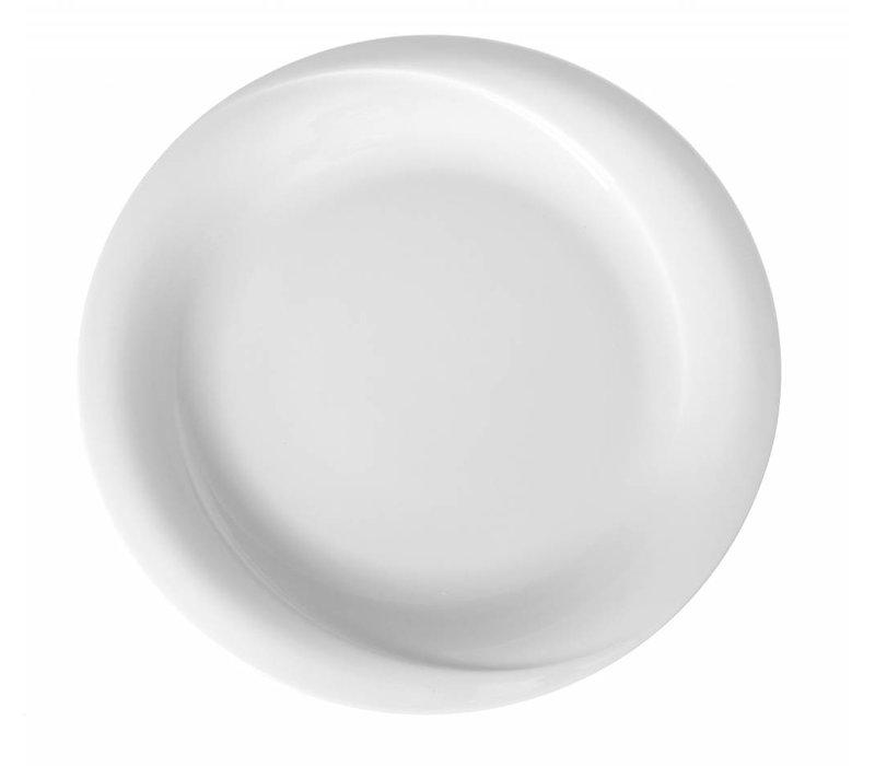Hendi Foren-Flach - 250x25 mm - Exclusiv - Weiß - Porzellan