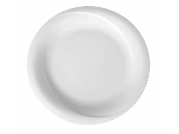 Hendi Foren-Flach - 270x25 mm - Exclusiv - Weiß - Porzellan