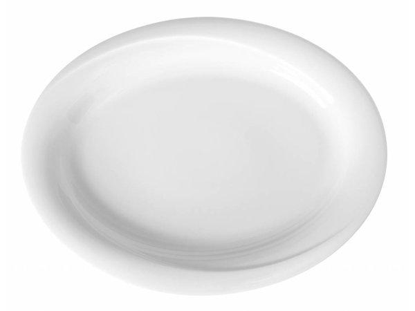 Hendi Schaal - Ovaal - Exclusiv - 290x230x30 mm - Wit - Porselein