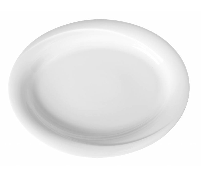 Hendi Scale oval Exclusiv - 340x270x35 mm - White - Porcelain