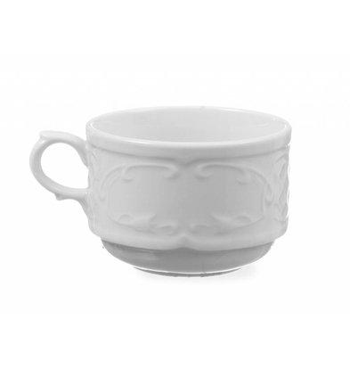 Hendi Cup 250 ml - 87x115x68 mm - Flora - Weiß - Porzellan