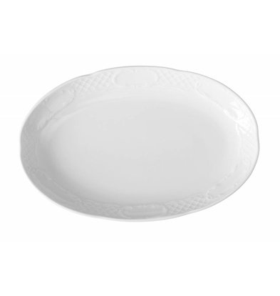 Hendi Maßstab oval - Flora - 320x230x40 mm - Weiß - Porzellan