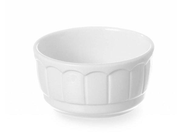 Hendi Oven dish - Round - Rustika - 100x50 mm - White - Porcelain