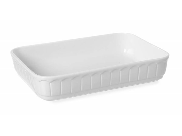 Hendi Oven dish - Rectangle - Rustika - 280x185x65 mm - White - Porcelain