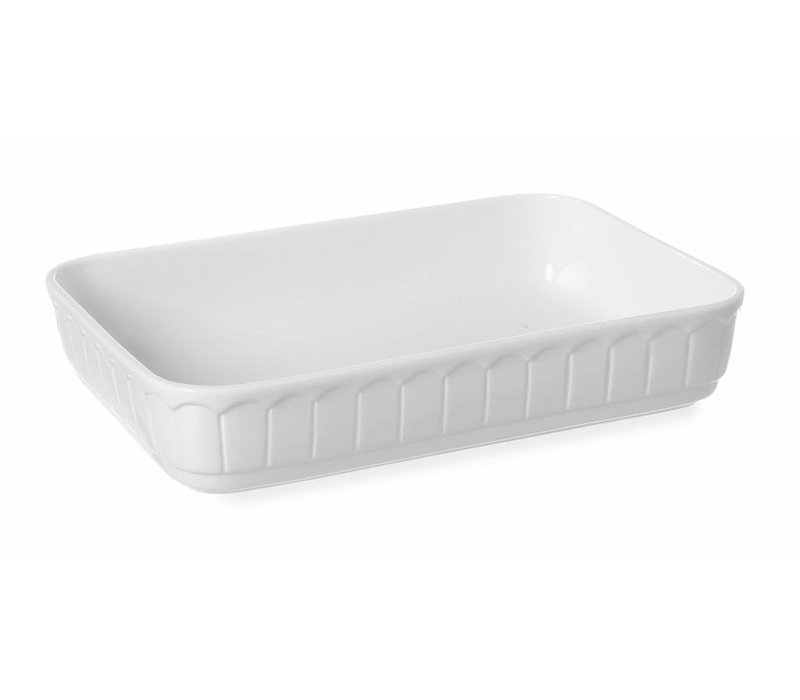 Hendi Oven dish - Rectangle - Rustika - 375x260x75 mm - White - Porcelain