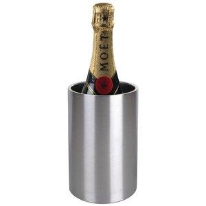 XXLselect Wijnkoeler / Champagnekoeler - Dubbelwandig RVS - Ø12cm x 20(h)cm