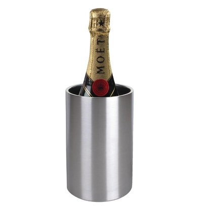 Olympia Weinkühler / Champagnerkühler - Doppelwandige Edelstahl - Ø12cm x 20 (H) cm