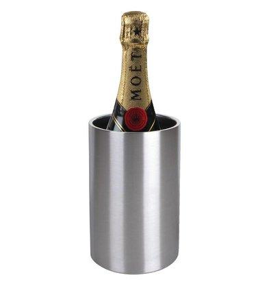 Olympia Wijnkoeler / Champagnekoeler - Dubbelwandig RVS - Ø12cm x 20(h)cm