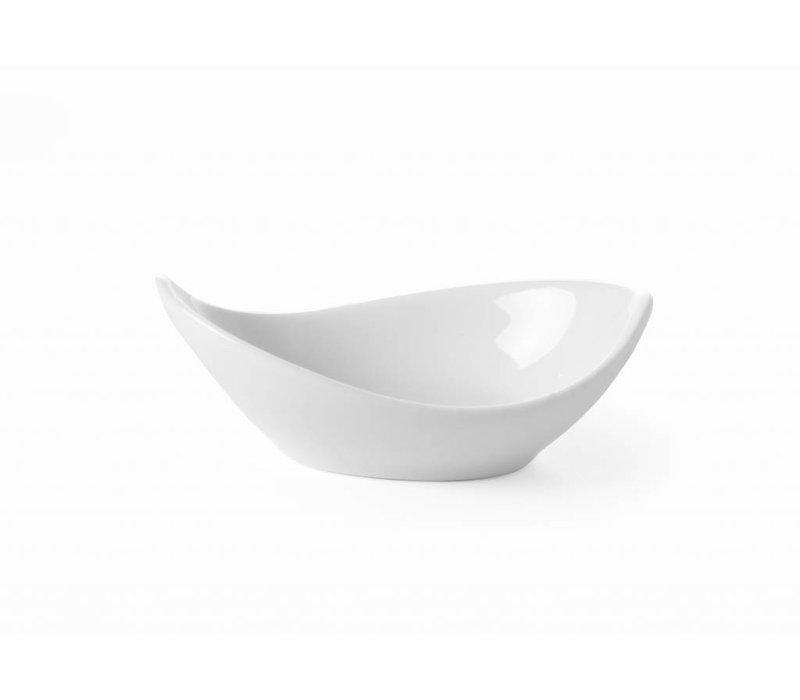 Hendi Tapas Bowl Concha set 6 - 90x50x20 mm - Weiß - Porzellan