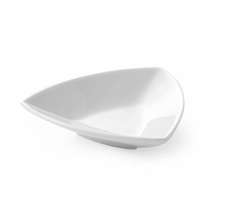 Hendi Tapas Bowl Triangolo set 6 - 100x100x25 mm - White - Porcelain