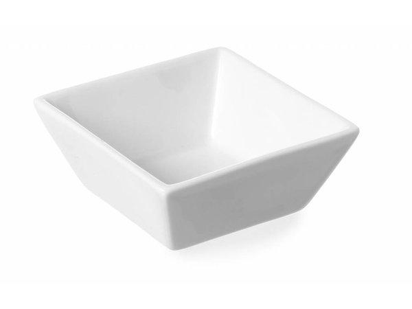 Hendi Tapas Bowl Cuadrado set 6 - 80x80x35 mm - Weiß - Porzellan