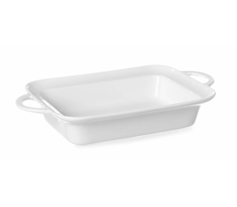 Hendi Tapas Scale rectangle - with handles - 185x260x55 mm - White - Porcelain