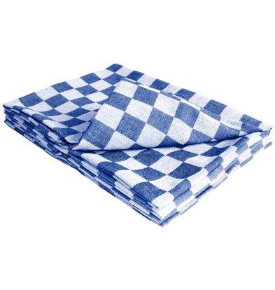 XXLselect Dishcloth - Blue / White Checkered Classic Towel - 65x65 cm