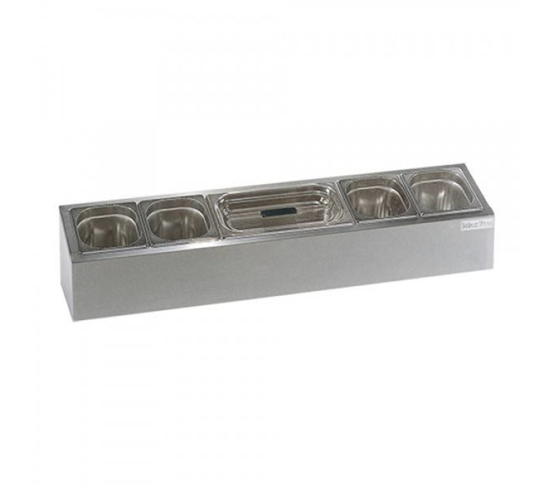 XXLselect Bar Station Garnish | 4 x 1 / 6GN + 1 / 3GN | 102x12x (H) 20cm