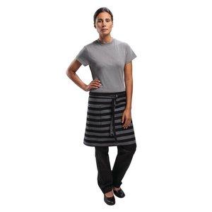 XXLselect Apron - Pinstripes Grey / Black - 72x48cm - With bag - Unisex