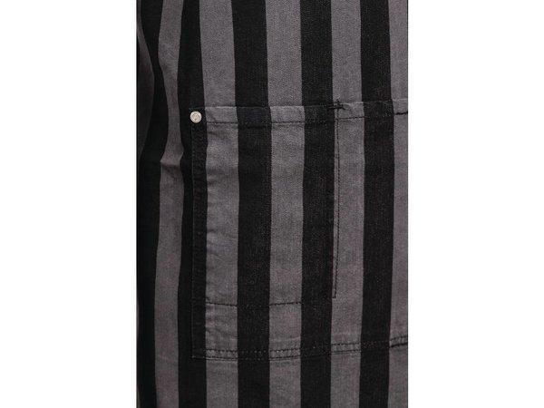 XXLselect Adjustable Halter Apron - Pinstripes Grey / Black - 76x86cm - With bag - Unisex