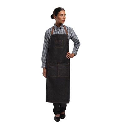 Chef Works Adjustable Halter Apron - Dark Denim Black - Urban - 81x86cm