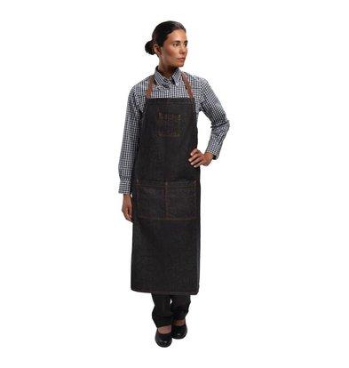 Chef Works Verstellbarer Halter Schürze - Dark Denim Black - Urban - 81x86cm