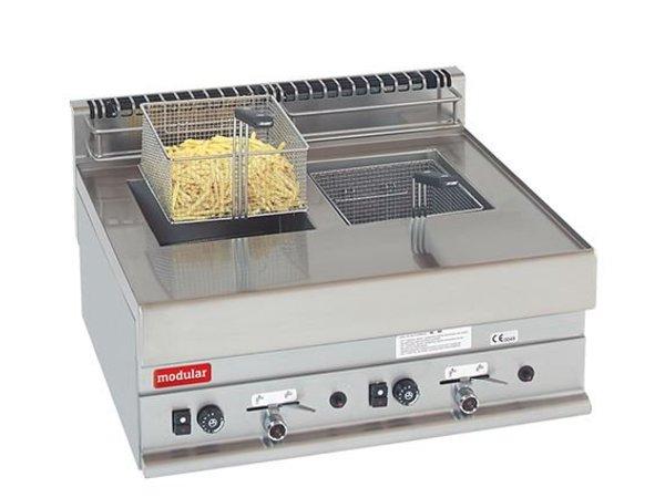 Modular Gas Fryer | Modular 650 | 8 + 8 Litre | 12.6 kW | 700x650x (H) 280mm