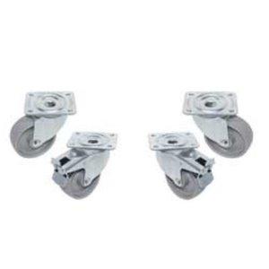 Diamond Set van 4 Zwenkwielen - 2 met Rem