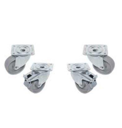 Diamond Set mit 4 Lenkrollen - zwei mit Bremse