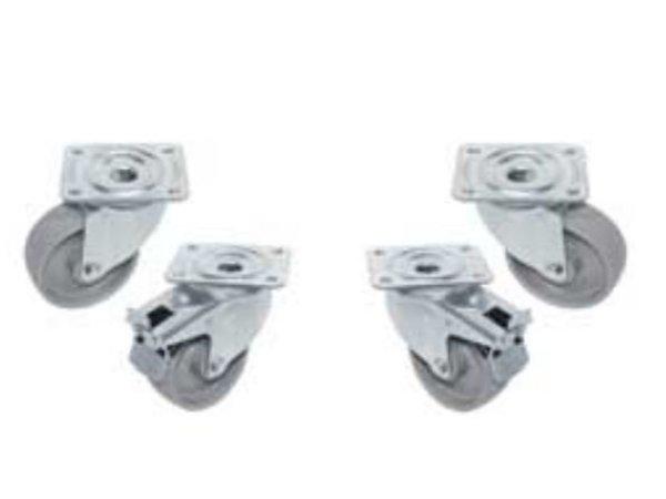 Diamond Set of 4 castors - two with brake