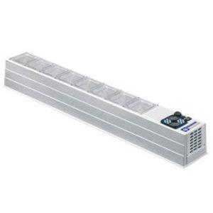 Diamond Design-Vitrine gekühlt - ohne Glas - 4x oder 8x 1/3 GN 1/6 GN - 172x23xh22 cm