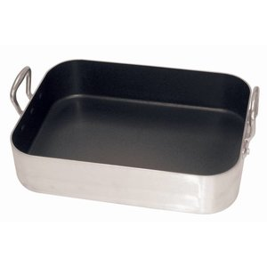 XXLselect Universal pan Aluminium Non-stick | 450x350mm | 80mm Deep | With two handles.