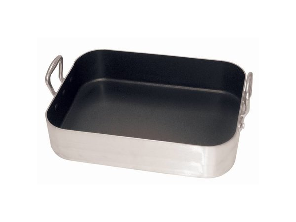 XXLselect Roasting pan Nonstick | Aluminum non-stick coating | With two handles | 400x300mm | 80mm Deep