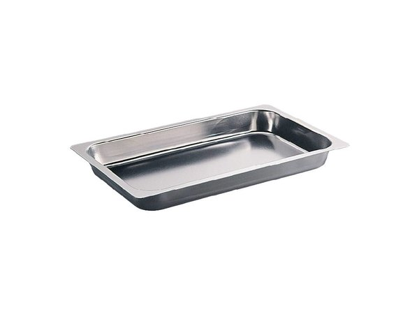 XXLselect Roasting pan RVS | Equipped with anti-adhesive | 325x530mm | 20mm deep | 1/1 GN