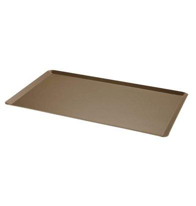 Bourgeat Grillplatte aus Aluminium | nonstick | Abgewinkelte Kante | 1/1 GN | 530x325mm