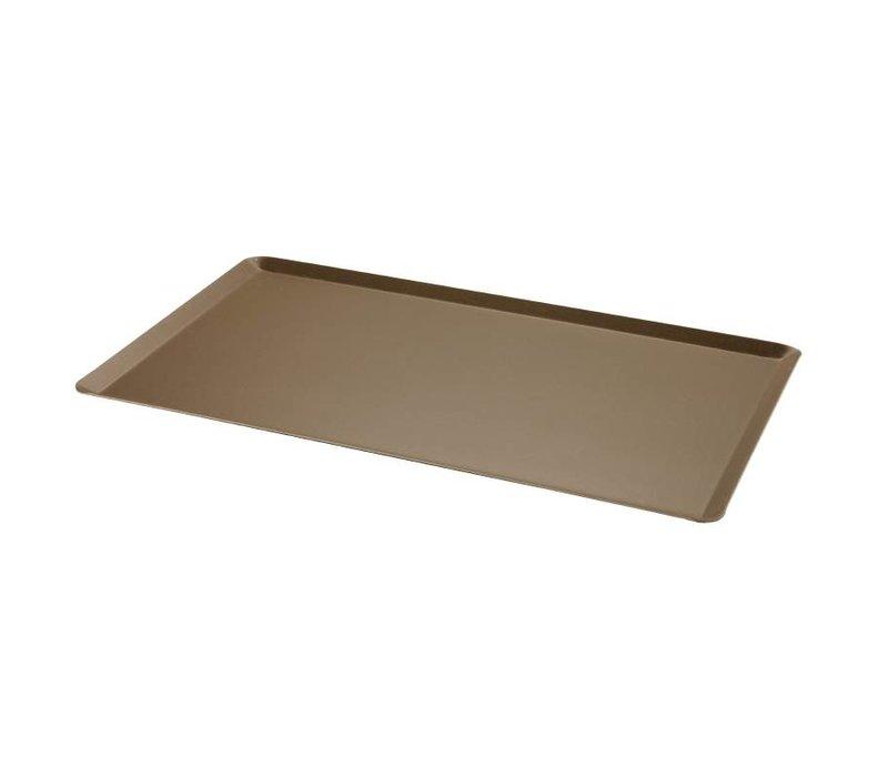 XXLselect Grillplatte aus Aluminium | nonstick | Abgewinkelte Kante | 1/1 GN | 530x325mm