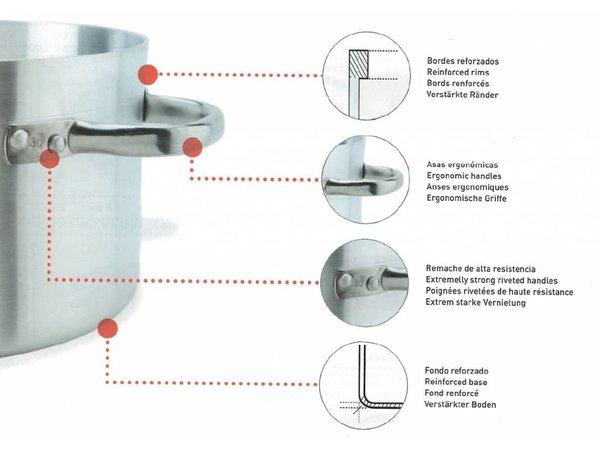 XXLselect Casserole / Stockpot - Aluminium - Medium mit Cover - 7 Liter - 7 Wahl von Größen
