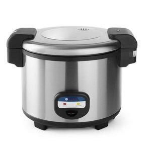 Hendi Rice Cooker Doppelwandig - Edelstahl - 30/35 Personen - 10 Liter / 5,4 Liter
