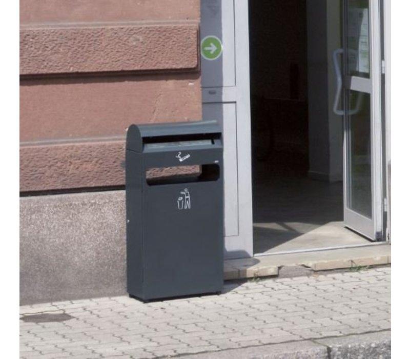 XXLselect Standascher   mit Bin   schwarz   4,7 Liter + 48 Liter Bin   Bis 1400 Kippen