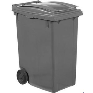 XXLselect Abfallbehälter Felgen- 360 Liter Grau