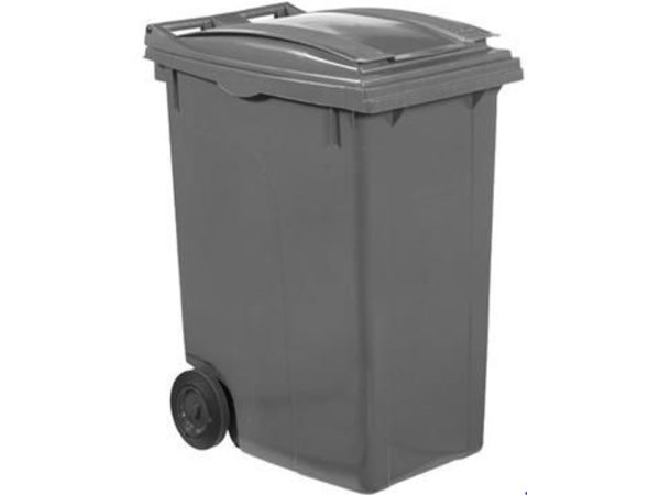 XXLselect Waste container Wheels- 360 Liter Gray