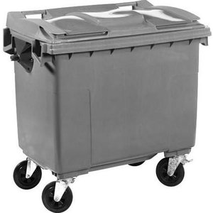 XXLselect Waste container / Maxi Container on Wheels- 660 Liter Gray