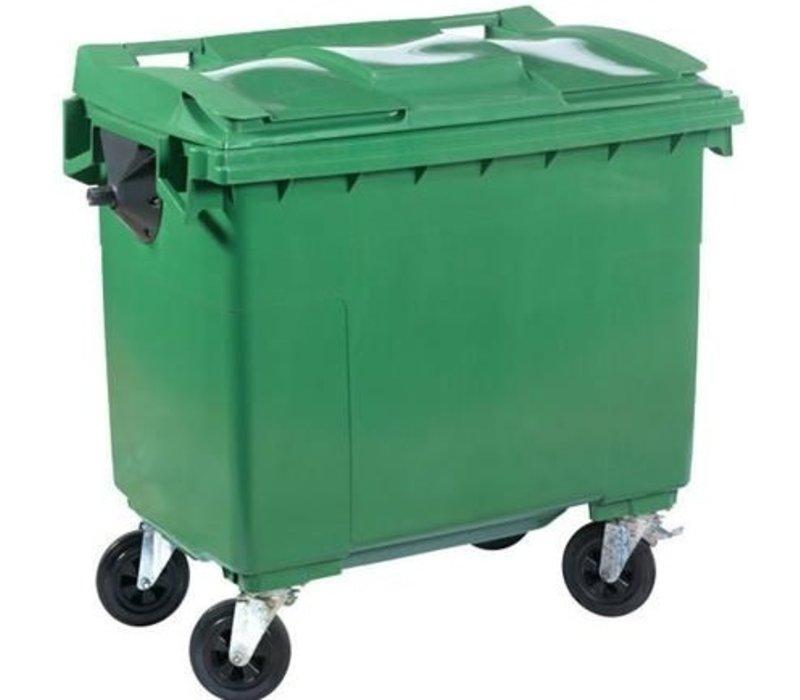 XXLselect Afvalcontainer / Maxi-Container op Wielen- 660 Liter Groen