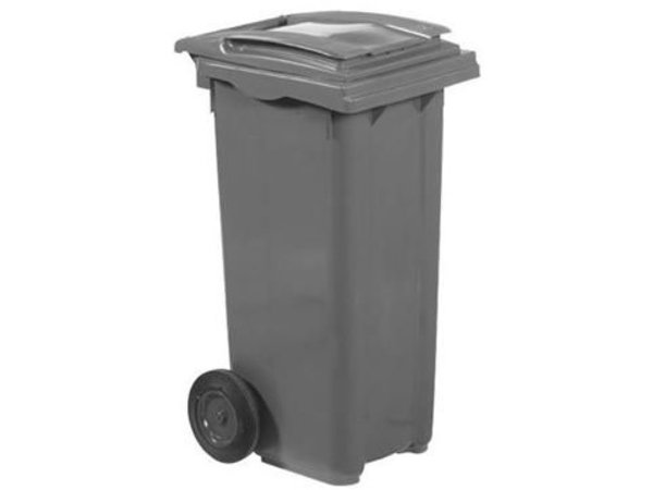 XXLselect Waste container Wheels- 120 Liter Gray