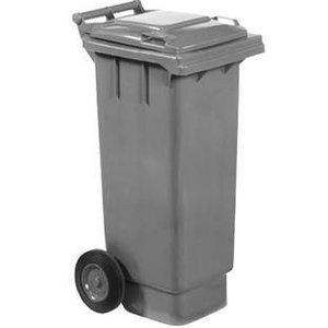 XXLselect Abfallbehälter Räder 80 Liter Grau