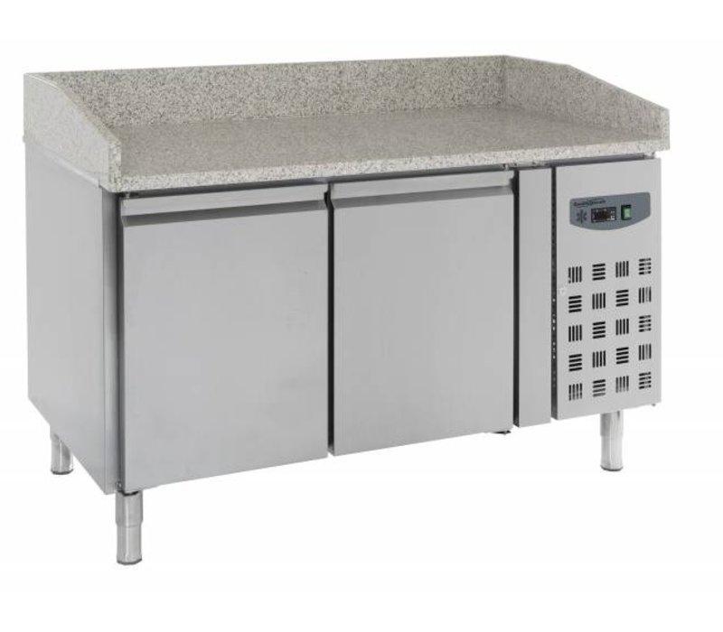 Combisteel Pizzawerkbank - RVS - 2 deurs - 151x80x(h)100cm