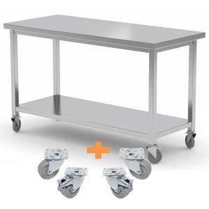 XXLselect Edelstahl-Werkbank / Schrank auf Rädern | CUSTOM | Jede Größe Möglichkeit