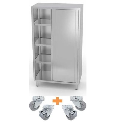 XXLselect Stainless steel Porcelain Cabinet / Cabinet on Wheels | CUSTOM | Each size Possibility
