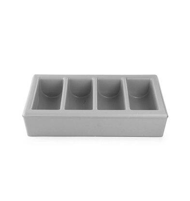Hendi Bestekbakhouder + Bestekbak - met 4 Bestekvakken - GN 1/1 - 100(d)mm - LUXE