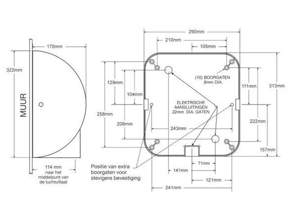 Xlerator Xlerator Handdroger Chroom | Zeer Krachtig | 10 sec | 1400W | Vandalisme Bestendig