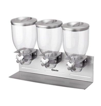 Bartscher 3x Frühstück Gran Spender | Capacity 3,5 Liter | 540x170x (H) 395mm