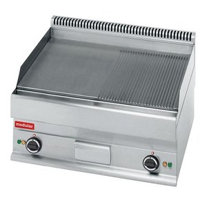 Modular 650 Modular griddle - Electric - Smooth and ribbed - 70x65x (h) 28cm - 4.5 kW - 400V