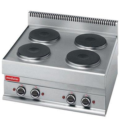 Modular 650 Modular stove - Electric - 4 Burners - 70x65x (h) 28cm - 9.6 kW - 400V