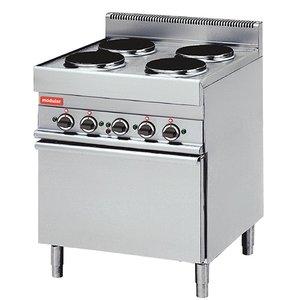 Modular 650 Modular stove - Electric - 4 Burners - With 1/1 Heteluchtoeven - 13.6 kW - 400V